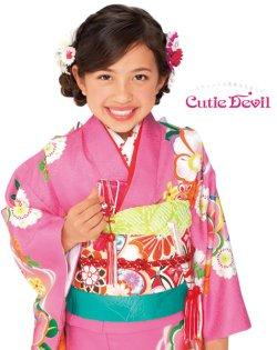 画像1: 七五三女の子着物7歳22点セット キューティーデビル