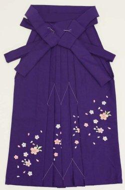 画像1: 七五三7歳用刺繍入り女児袴