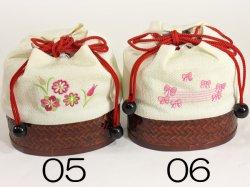 画像4: 女の子カゴ付き刺繍巾着