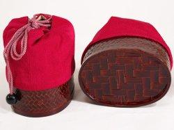 画像5: 女の子カゴ付き刺繍巾着