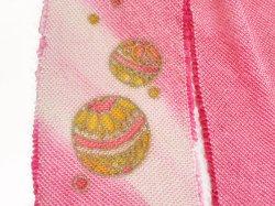 画像3: 七五三正絹おびあげ ピンク 鞠