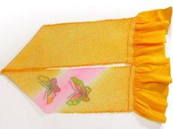画像2: 七五三正絹おびあげ 黄色 蝶