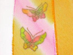 画像3: 七五三正絹おびあげ 黄色 蝶