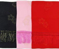 画像1: 七五三正絹縫取しごき