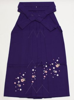 画像1: 女子袴 刺繍入り Lサイズ
