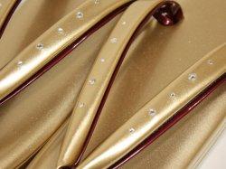 画像2: 三枚芯スワロフスキー草履Fサイズ 金