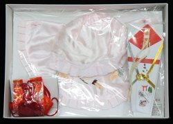 画像1: 女児お宮参りフード4点セット(刺繍入り)