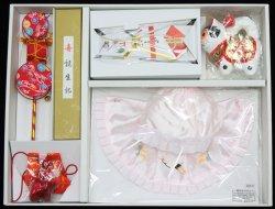 画像1: 女児お宮参りフード7点セット(刺繍入り)