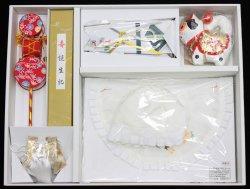 画像1: 男児お宮参り正絹フード7点セット(刺繍入り)