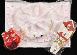 画像2: 女児お宮参り正絹大黒帽4点セット(刺繍入り)